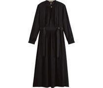 Midi-Kleid, Bindedetails, Schlüssellochausschnitt,