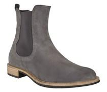 Chelsea Boots, Veloursleder, Kontrastsohle,