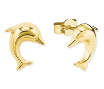 Ohrstecker Delfin, 585er Gelb