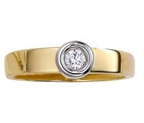Ring 375/-  bicolor Zirkonia