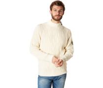 Pullover, Stehkragen, Strickuster, Patsch, Knöpfe,
