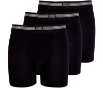 Boxer Trunks, 3er-Pack, Stretch,