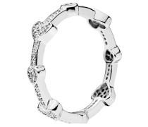 """Ring Silber """"Alluring Hearts"""", stapelbar"""