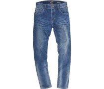 "Jeans ""Woodstock"", Regular Fit, Waschung, Patches,"