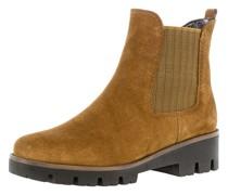 Chelsea Boots, Blockabsatz, Rauleder,