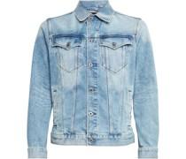 Jeansjacke, Baumwoll-Stretch, Eingrifftaschen, Knopfleiste,