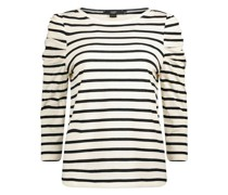 Simple stripes fitted cotton top