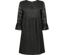 Peephole neckline empire dress