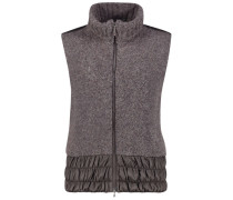 Wool-blend high-neck vest