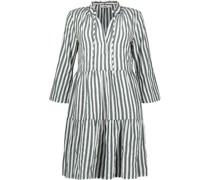 Subtle stripes tiered dress