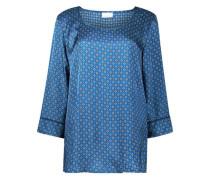 Vibrant blue basic blouse