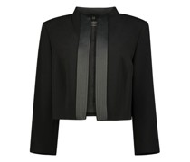 Structured ebony cropped blazer
