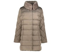 Quilted fur lined coat