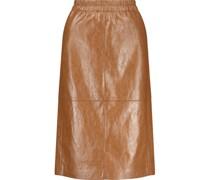 Leather look pencil midi skirt