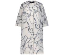 Marble print longline coat