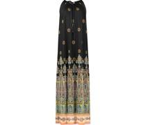 Paisley print maxi halter dress