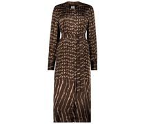 Retro print fitted maxi dress
