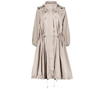 A-line trench coat