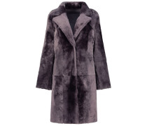 Plum gray double-breasted coat