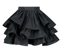 Layered mini ruffled skirt