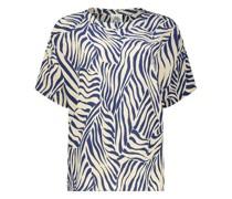 Gemusterte Bluse mit kurzem Ärmel