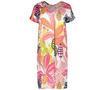 Tropical leaves printed shift dress