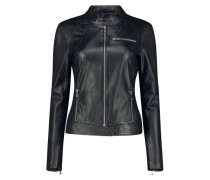 Attractive edgy leather jacket