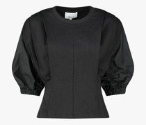 Puffed sleeve structured top