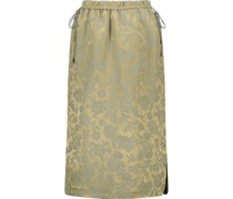 Jacquard pencil subtle slit skirt