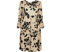 Floral pattern flared empire dress