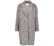Ash gray sequinned overcoat