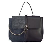 Dual texture handbag