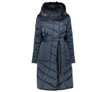 Fur detailed quilted coat