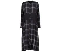 Checkered midi Oberteil dress