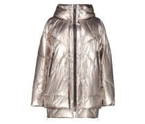Gold tint puffer jacket