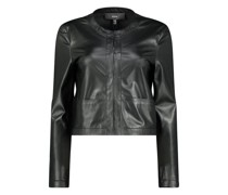 Clean look leather jacket