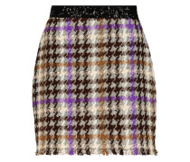Checkered mini pencil skirt