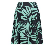 Contrasting floral pleated skirt