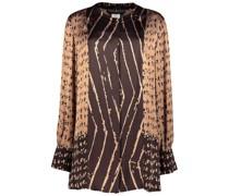 Carob assorted print blouse