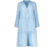 Ruffled neckline tiered dress
