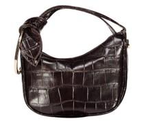 Charming crescent croc-effect bag