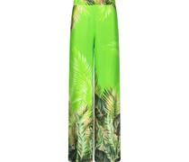Wide leg tropic pattern Hose