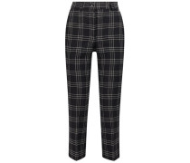 Blended plaid trousers