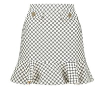 Structured trumpet mini skirt