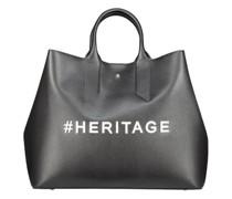 Large typographic hashtag handbag