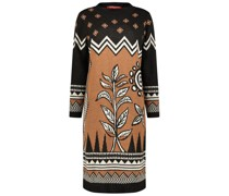 Intricate pattern knit jumper dress