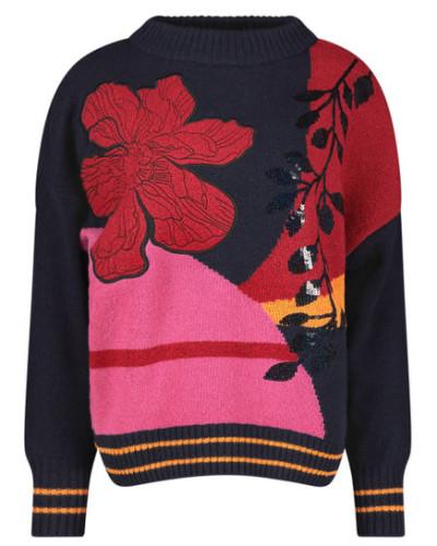 Bold pattern jumper