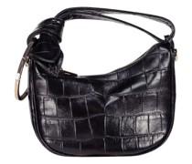Unique crescent croc-effect bag