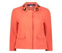 Tangerine detailed jacket