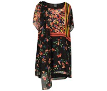 Contrasting floral tunic